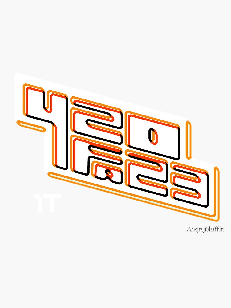420FAZ3 - Logotipo blanco y naranja de AngryMuffin