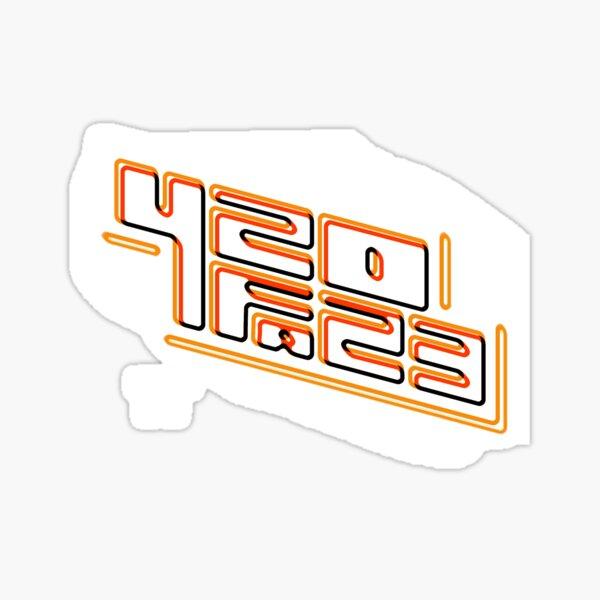 420FAZ3 - Logotipo blanco y naranja Pegatina