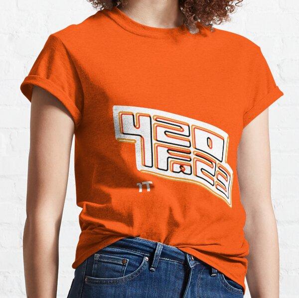 420FAZ3 - White & Orange Logo Classic T-Shirt