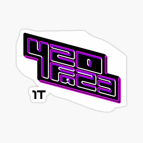 420FAZ3 - Logotipo negro y morado Pegatina