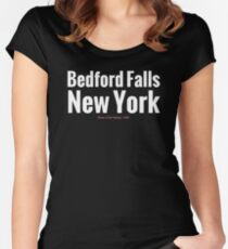 Bedford Falls NY Women's Fitted Scoop T-Shirt