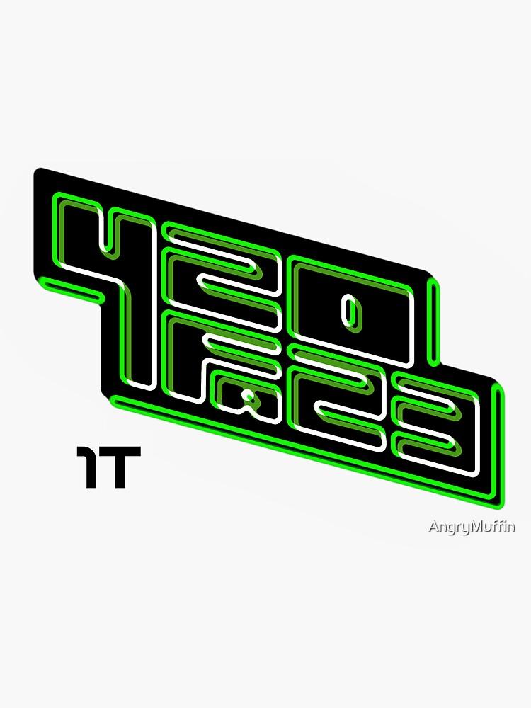 420FAZ3 - Logotipo negro y verde de AngryMuffin