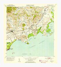 USGS TOPO Map Puerto Rico PR Naguabo 362489 1952 30000 Photographic Print