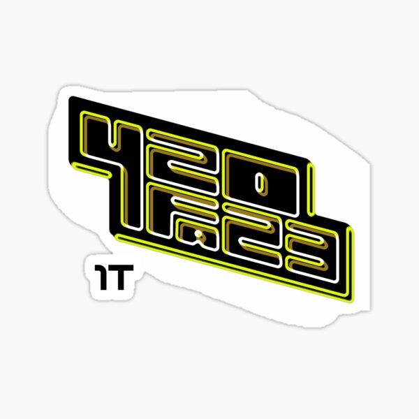 420FAZ3 - Logotipo negro y amarillo Pegatina