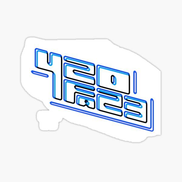 420FAZ3 - Logotipo blanco y azul Pegatina