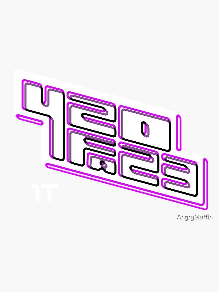 420FAZ3 - Logotipo blanco y morado de AngryMuffin