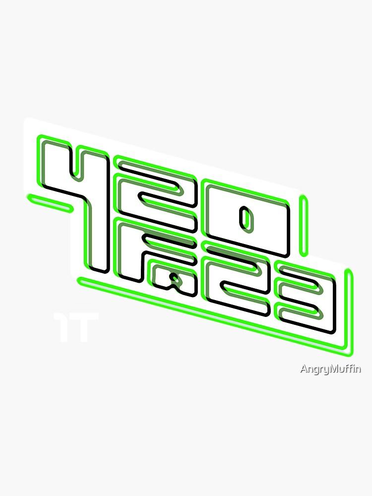 420FAZ3 - Logotipo blanco y verde de AngryMuffin