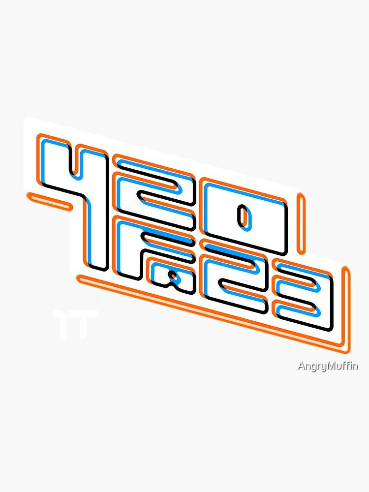 420FAZ3 - Logotipo blanco de AngryMuffin