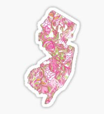 New Jersey Pink and Green Sticker