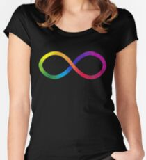 Autistic Pride Symbol Women's Fitted Scoop T-Shirt