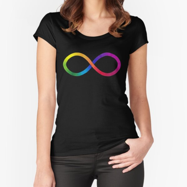 Neurodiversity Symbol Fitted Scoop T-Shirt
