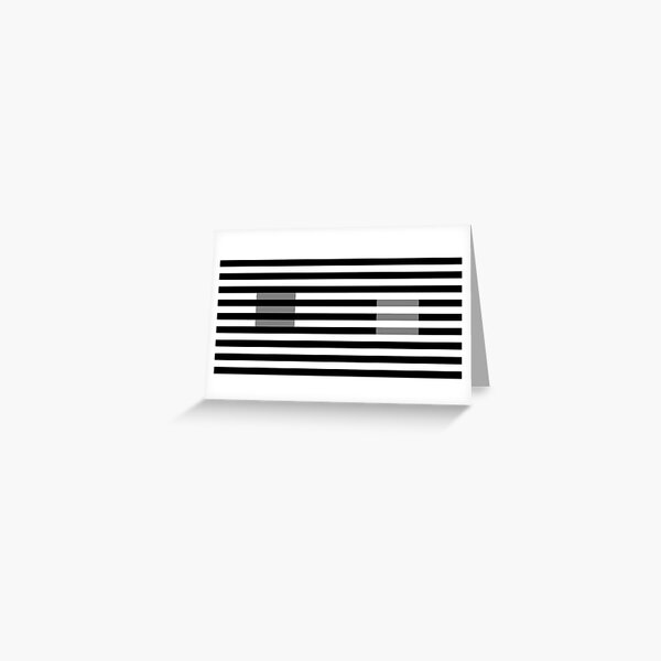 White's Illusion Greeting Card