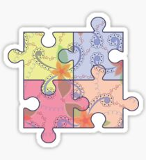 Puzzle symbol of autism Sticker