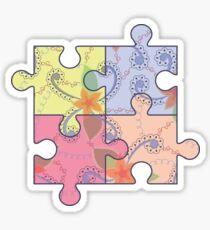 Puzzle symbol of autism Sticker