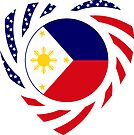 Filipino American Multinational Patriot Flag Series 2.0 by Carbon-Fibre Media