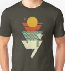Sun. Sea. Sand. Shark. Unisex T-Shirt