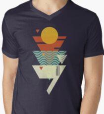 Sun. Sea. Sand. Shark. Men's V-Neck T-Shirt
