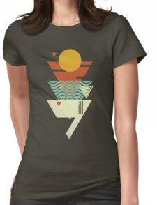 Sun. Sea. Sand. Shark. Womens Fitted T-Shirt