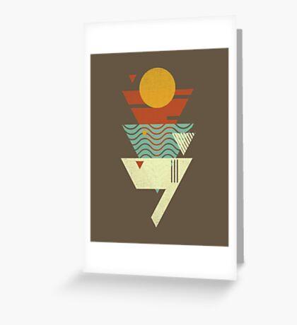 Sun. Sea. Sand. Shark. Greeting Card