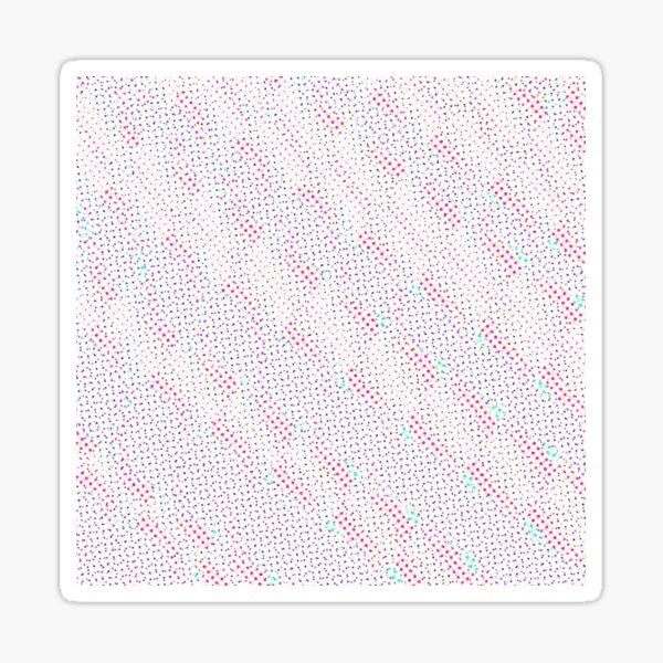 Half Tone Glitch Dots Sticker