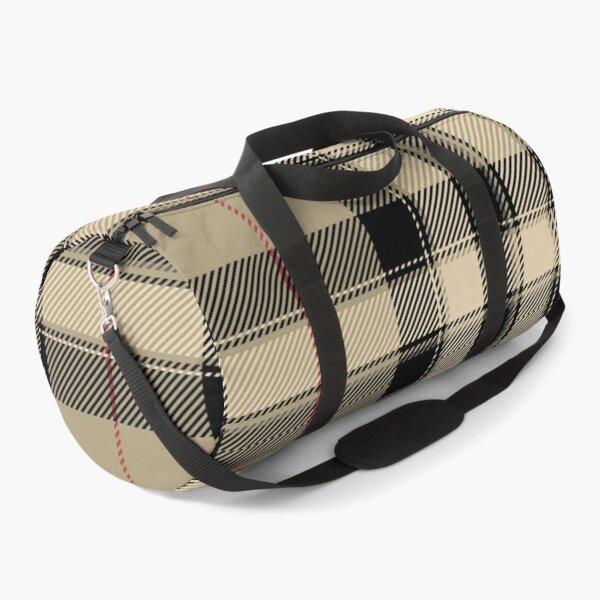 Multi coloured tartan patterns background Duffle Bag