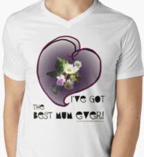 wildflower, Best Mum EVER! heart quirky Men's V-Neck T-Shirt