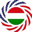 Hungarian American Multinational Patriot Flag Series by Carbon-Fibre Media