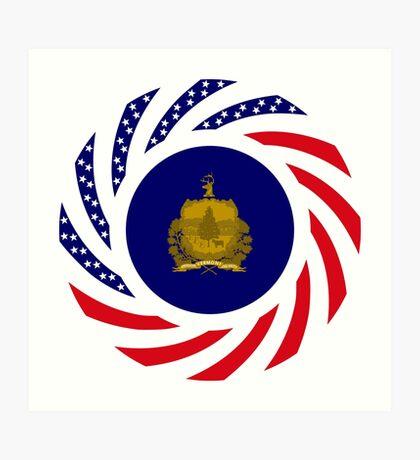 Vermont Murican Patriot Flag Series Art Print