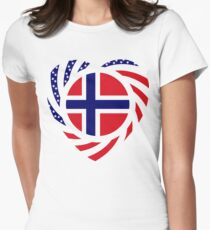 Norwegian American Multinational Patriot Flag Series 2.0 T-Shirt