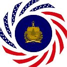 Vermont Murican Patriot Flag Series by Carbon-Fibre Media