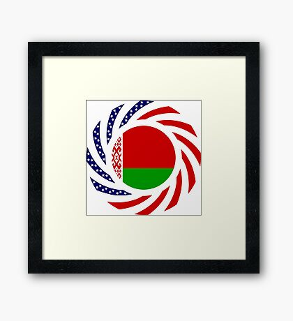 Belarusian American Multinational Patriot Flag Series Framed Print
