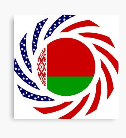 Belarusian American Multinational Patriot Flag Series Canvas Print