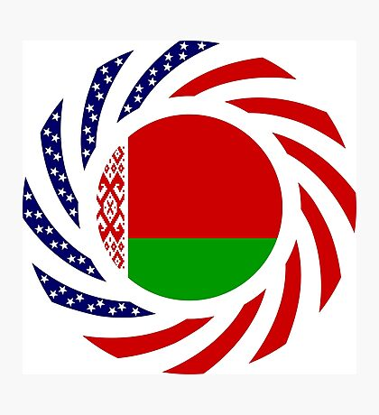 Belarusian American Multinational Patriot Flag Series Photographic Print