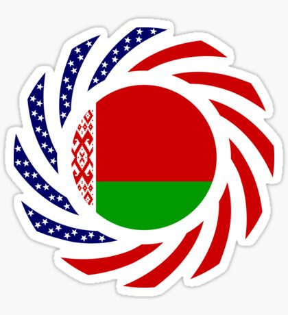 Belarusian American Multinational Patriot Flag Series Sticker