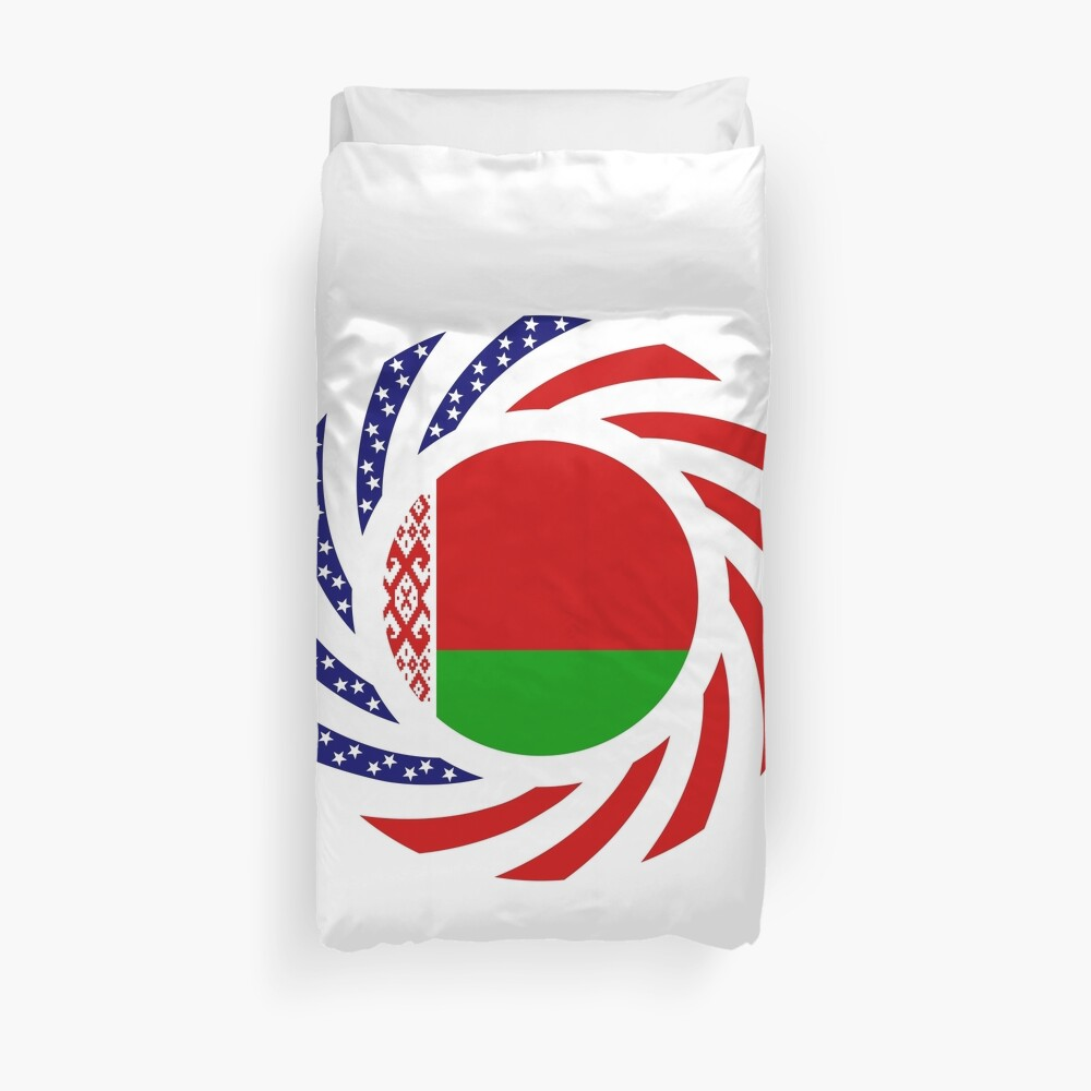Belarusian American Multinational Patriot Flag Series Duvet Cover