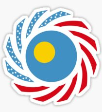 Paluan American Multinational Patriot Flag Series Sticker