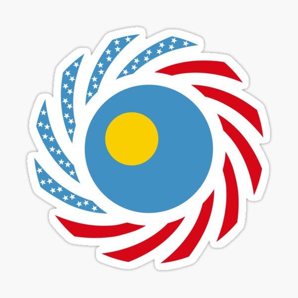 Paluan American Multinational Patriot Flag Series Sticker