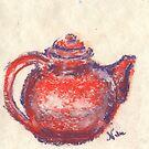 Little Teapot (Pastel) by Niki Hilsabeck