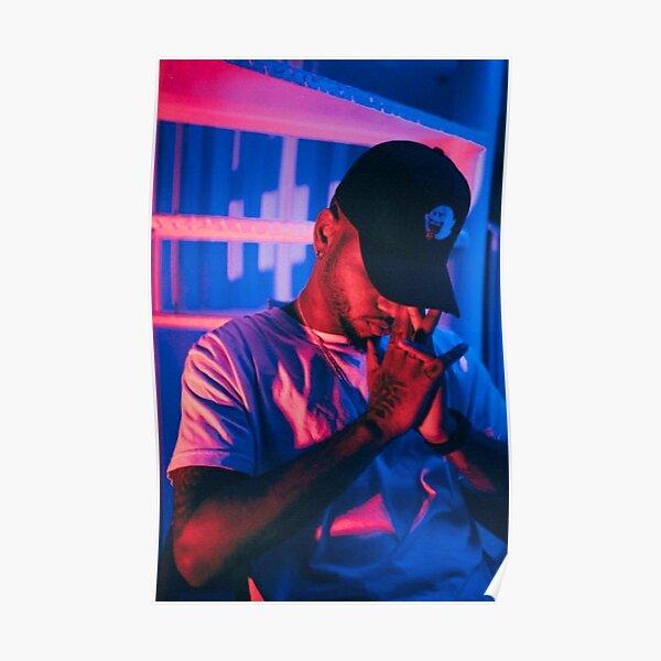 blue light tiller pray Poster