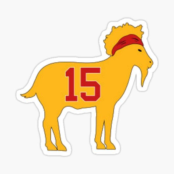 Kansas City Chiefs - Patrick Mahomes GOAT 15 Sticker