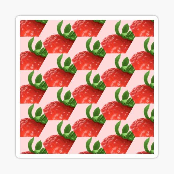 Hexagonal Strawberries Sticker