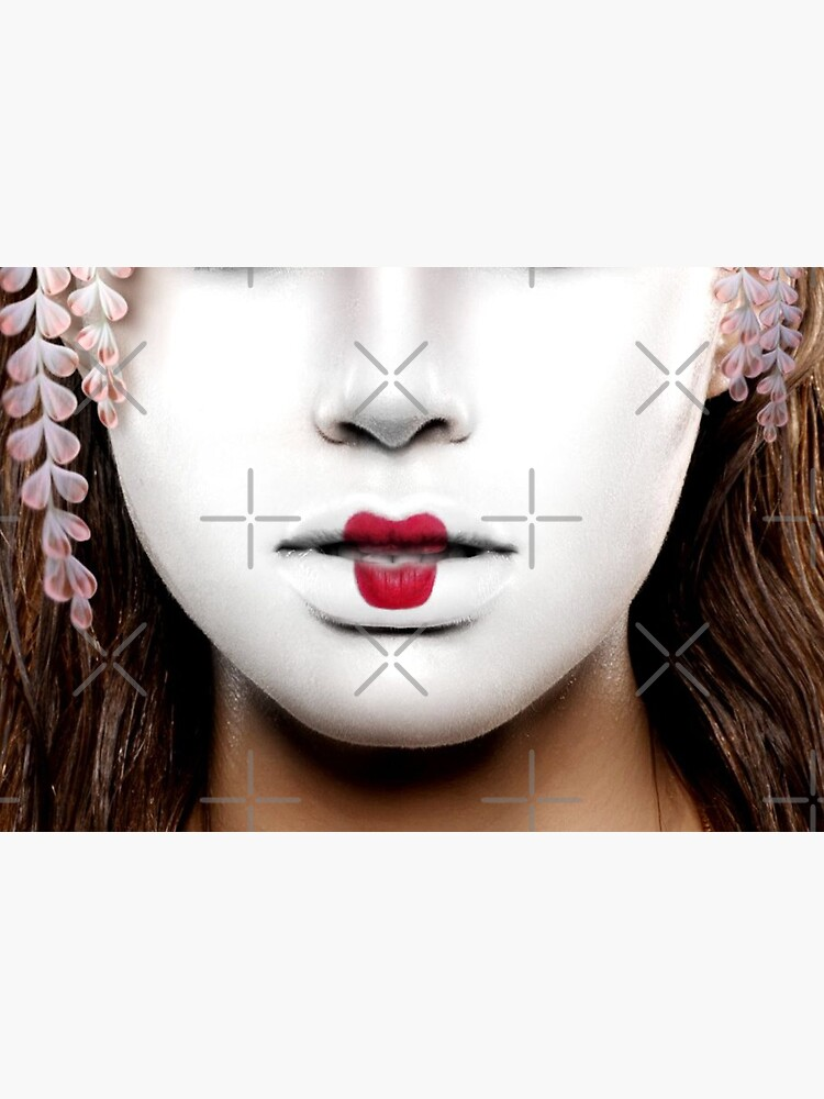 Geisha face mask by alicemonbercomp