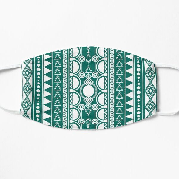 Bohemian Ornament 30122020 weiß auf grün Flache Maske