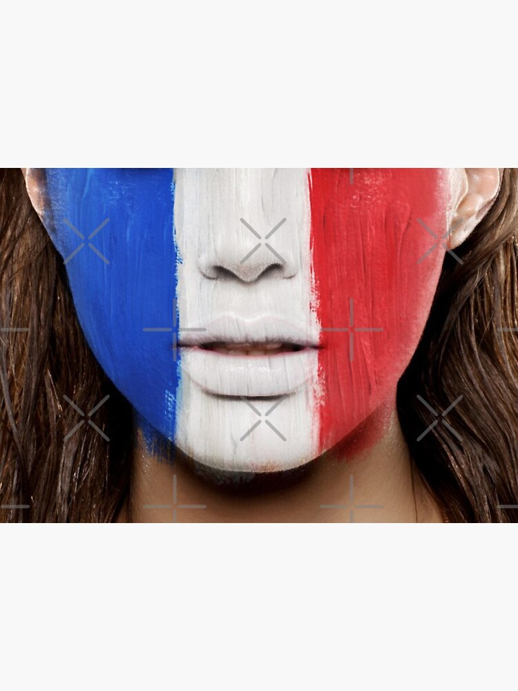 French flag face mask by alicemonbercomp
