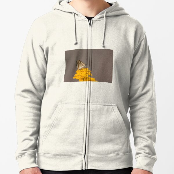 Spotted fritillary Zipped Hoodie