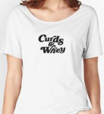 Curds & Whey (Black) Women's Relaxed Fit T-Shirt