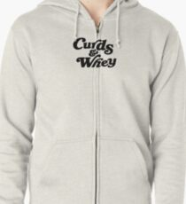 Curds & Whey (Black) Zipped Hoodie