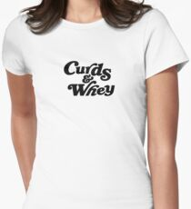 Curds & Whey (Black) Women's Fitted T-Shirt