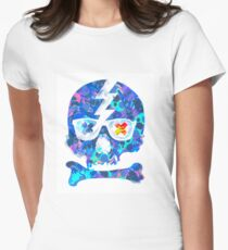 Psychedelic Skull by Pepe Psyche Women's Fitted T-Shirt