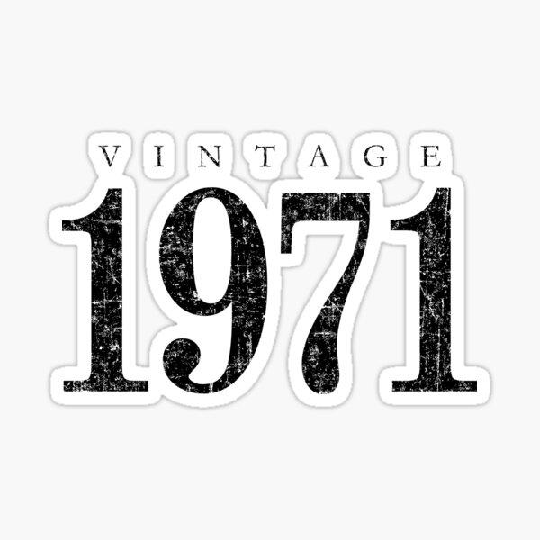 Vintage 1971 (Antik Schwarz) 50. Geburtstag  Sticker